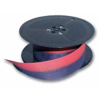 Páska pro psací stroj DIN 1, červeno - černá, textilní, 13mm