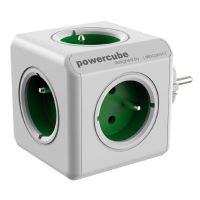 Rozbočovací zásuvka 240V Powercube, CEE7 (vidlice) 0.1m, Original, zelená
