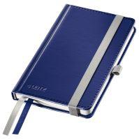 Zápisník Leitz STYLE A6, tvrdé desky, linkovaný, titanově modrý