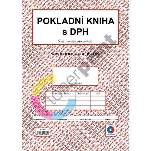 Kniha pokladní s DPH samopropis  PT-240 / 50 listů jeden blok 1