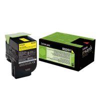 Toner Lexmark 80C2SY0, yellow, originál