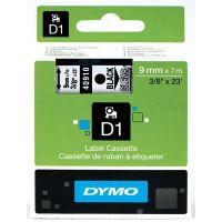 Páska Dymo D1 9mm x 7m, černý tisk/průhledný podklad, 40910, S0720670