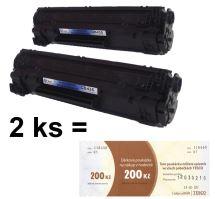 2ks kompatibilní toner HP CB436A č. 36A, MP print + Tesco 200 Kč 1