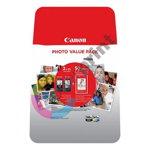 Inkoustová cartridge Canon PG-560XL/CL-561XL multipack, 3712C004, black/color, 1