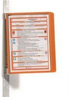 Prezentační kapsa Vario 5 Magnetic, oranžová, magnetická, nástěnná, 5 kapes, Durable