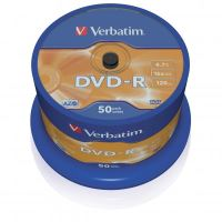 Verbatim DVD-R, DataLife PLUS, 4,7 GB, Scratch Resistant, cake box, 43548, 50-pack