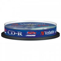 Verbatim CD-R, DataLife, 700 MB, Extra Protection, cake box, 43437, 52x, 10-pack