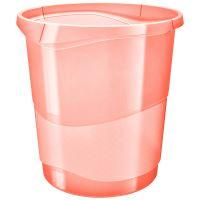Odpadkový koš Esselte Colour'Ice, průhledná broskvová, 14 l