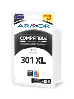 Cartridge HP CH563EE, CH564EE, pack, black+color, No. 301XL, Armor