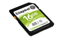 Kingston 16GB SDHC Canvas Select CL10 UHS-I 80R