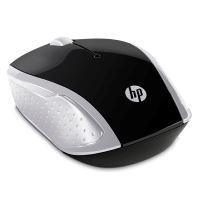 Myš HP 200 Wireless Pike Silver, 2.4 [GHz], optická, bezdrátová, stříbrná