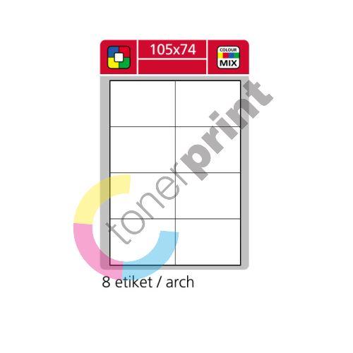 Samolepící etikety SK LABEL 105 x 74 mm, červené 1