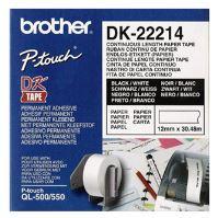 Role papírová Brother 12mm x 30.48m, bílá, 1 ks, DK22214, pro tiskárny štítků