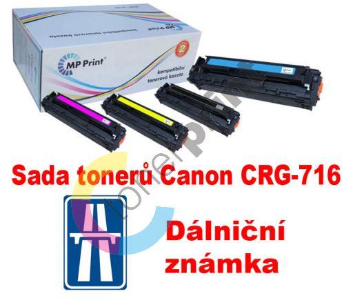 Sada tonerů Canon CRG-716, CMYK, MP print + dálniční známka 1