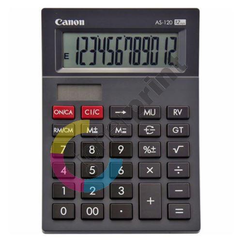 Kalkulačka Canon AS-120, černá, stolní, dvanáctimístná 1
