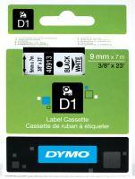 Páska Dymo D1 9mm x 7m, černý tisk/bílý podklad 40913, S0720680
