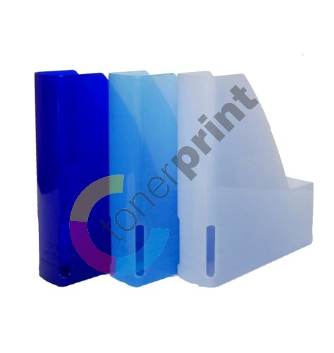 Pořadač na dokumenty A4, plastový 6 cm, magazín box, poloprůhledný matný 1