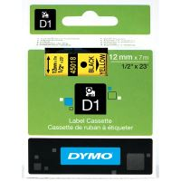 Páska Dymo D1 12 mm černý tisk/žlutý podklad, 45018, S0720580