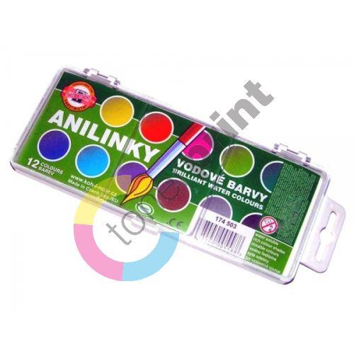 Brilantní vodové barvy anilinky 22,5mm 1